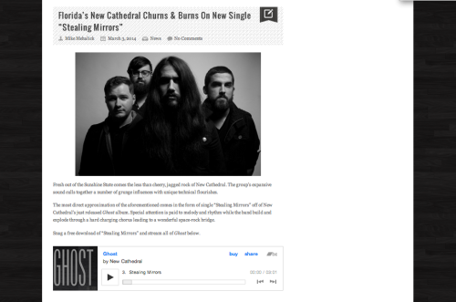 Speak Into My Good Eye Feature On New Cathedral Single Stealing Mirrors From 2014 Release Ghost