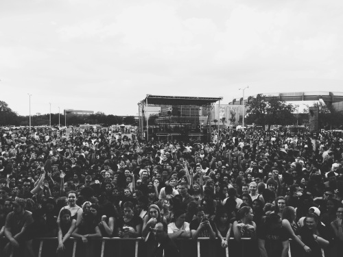 Our crowd at Bullstock 2014, taken right after the set as we were packing up our gear.