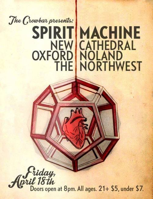 New Cathedral, Spirit Machine, Oxford Noland, and The Northwest at The Crowbar Live in Ybor City April 18th 2014
